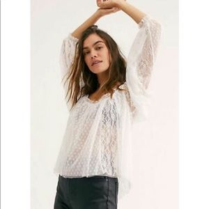 Free People A Little Love White Top